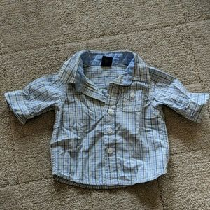 Baby Gap baby boy's plaid oxford button down shirt